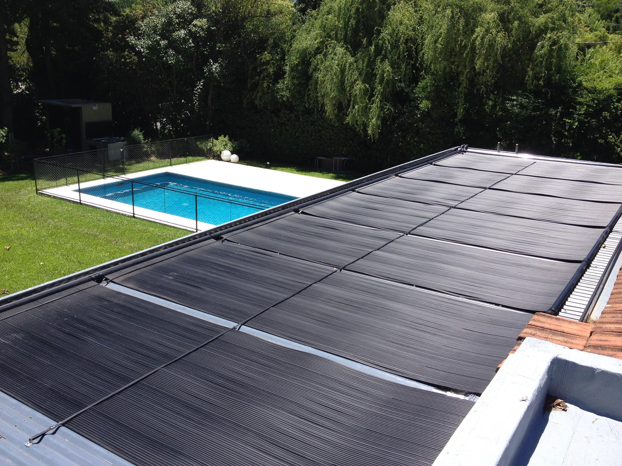 Ecosun pool solar on a residential roof in Buenos Aires Argentina